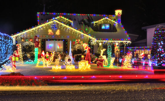 Deck The Roof With Lights Of The Holidays